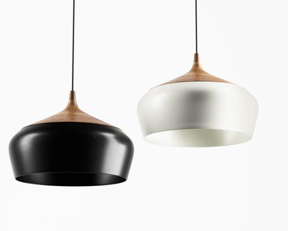 Coco-Flip-ceiling-lamp-black&white---3D-model-by-Zenpolygon