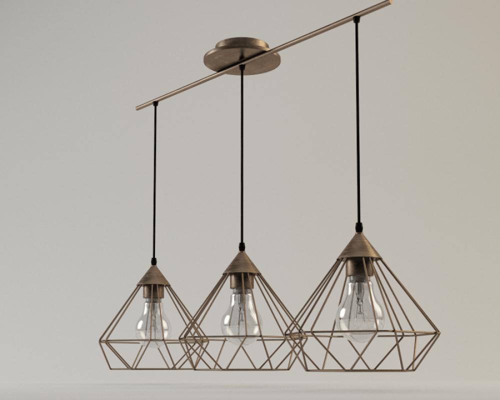 Tarbes Eglo pendant lamp - model 3D